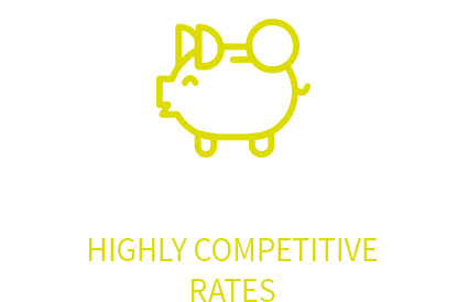 Highly competitive rates